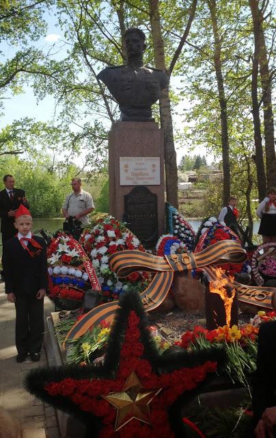Зажжение Вечного огня в поселке Одоев в 2015 г.